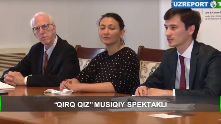 UzReport: Saodat Ismailova about the play Qyrq qyz