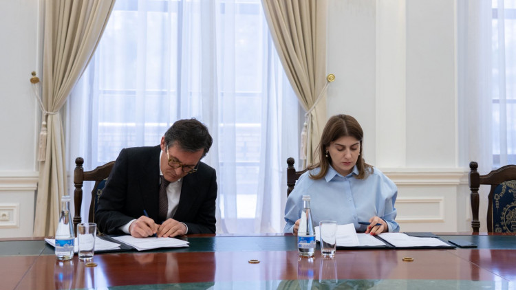 Today the Art and Culture Development Foundation and the Ministry of Europe and Foreign Affairs of the French Republic signed the declaration on cooperation on Franco-Uzbek Cultural Centre.